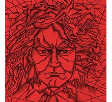 Red Beethoven Photographic Print