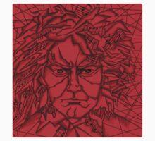 Red Beethoven Kids Tee