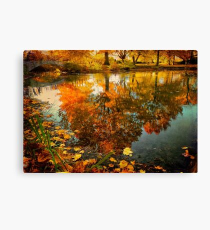 Reflection of the fall Canvas Print