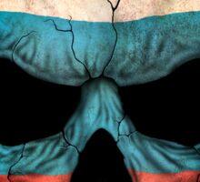 Russian Flag Skull Sticker