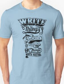 Write Things Unisex T-Shirt