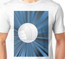 Volleyball Ball on Rays Background Unisex T-Shirt