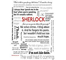 Sherlock  Quotes Photographic Print