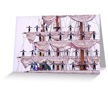 Stationed Up High Greeting Card