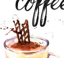 But first coffee CA Sticker