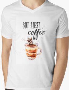 But first coffee CA Mens V-Neck T-Shirt