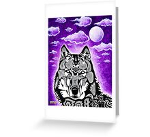 Funq Wolf Greeting Card