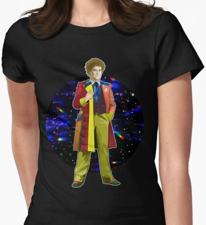 The 6th Doctor - Colin Baker Womens Fitted T-Shirt