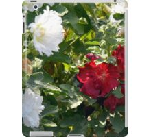 Red and white flowers in the park. Natural background. iPad Case/Skin