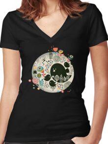 Big bird Women's Fitted V-Neck T-Shirt