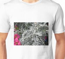 Green plants and flowers in the park. Unisex T-Shirt