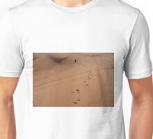 Steps in the sand. Desert dunes. Unisex T-Shirt