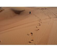 Steps in the sand. Desert dunes. Photographic Print