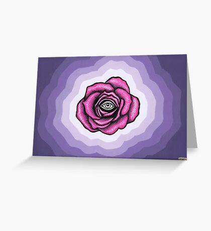 Indigo Rose Greeting Card