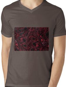 Colorful psychedelic background made of interweaving curved shapes. Illustration Mens V-Neck T-Shirt