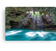 Sunrays Shining into The Grotto Canvas Print