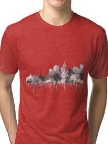 Vancouver, BC, Canada Skyline - CRISP Tri-blend T-Shirt