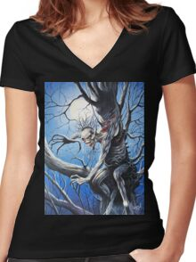 IRON MAIDEN FEAR OF THE DARK Women's Fitted V-Neck T-Shirt