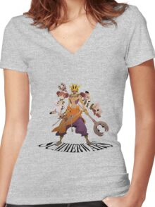 Summer Wars Love Machine Women's Fitted V-Neck T-Shirt