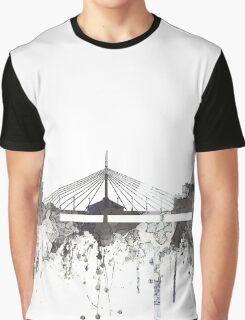 Winnipeg, Manitoba, Canada Skyline - CRISP Graphic T-Shirt