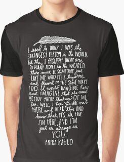 Frida Kahlo Quotes Graphic T-Shirt