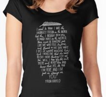 Frida Kahlo Quotes Women's Fitted Scoop T-Shirt
