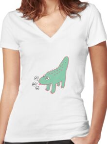 Croc Croc Women's Fitted V-Neck T-Shirt