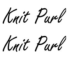 Knit Purl 1 Photographic Print