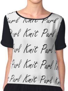 Knit Purl 1 Chiffon Top