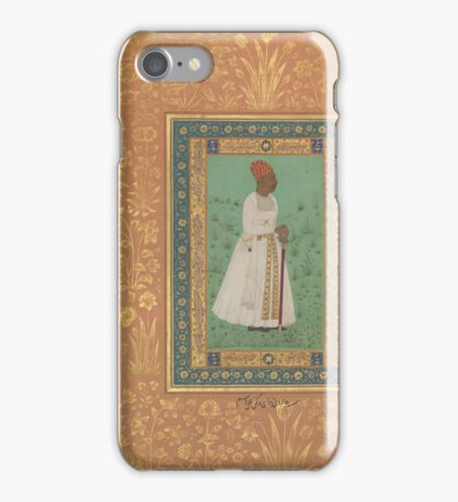 Portrait of Jadun Rai Deccani, Folio from the Shah Jahan Album iPhone Case/Skin
