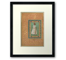 Portrait of Jadun Rai Deccani, Folio from the Shah Jahan Album Framed Print