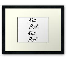 Knit Purl 2 Framed Print