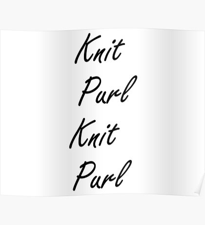 Knit Purl 2 Poster