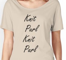 Knit Purl 2 Women's Relaxed Fit T-Shirt