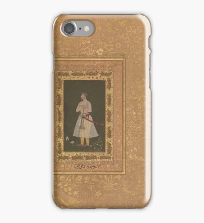 Portrait of Jahangir Beg, Jansipar Khan, Folio from the Shah Jahan Album iPhone Case/Skin