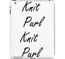 Knit Purl 2 iPad Case/Skin