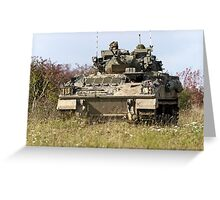 A British Army Warrior Infantry Fighting Vehicle Greeting Card