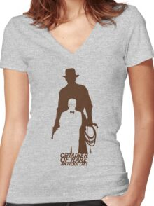 Obtainer of Rare Antiquities Women's Fitted V-Neck T-Shirt