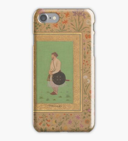 Portrait of Khan Dauran Bahadur Nusrat Jang, Folio from the Shah Jahan Album iPhone Case/Skin