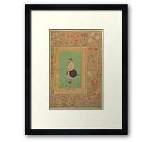 Portrait of Khan Dauran Bahadur Nusrat Jang, Folio from the Shah Jahan Album Framed Print