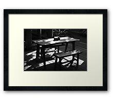 table Framed Print