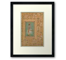 Portrait of Maharaja Bhim Kanwar, Folio from the Shah Jahan Album Framed Print