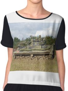 A British Army Warrior Infantry Fighting Vehicle Chiffon Top