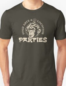 Your date and location parties Unisex T-Shirt