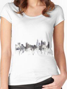 Perth, Western Australia Skyline - CRISP Women's Fitted Scoop T-Shirt