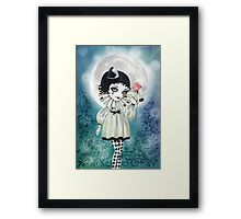 Pierrette Under the Icy Moon Framed Print