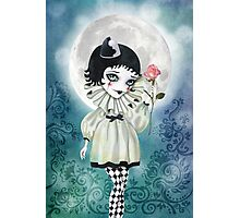 Pierrette Under the Icy Moon Photographic Print