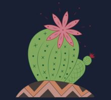 Bright Cactus Vector Illustration Kids Tee