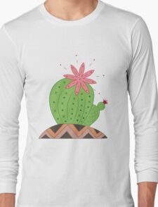 Bright Cactus Vector Illustration Long Sleeve T-Shirt