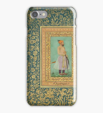 Portrait of Sayyid Abu'l Muzaffar Khan, Khan Jahan Barha, Folio from the Shah Jahan Album iPhone Case/Skin